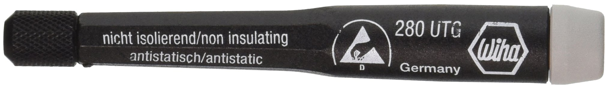 Wiha 28001 System 4 ESD Safe Dissipative Precision Adjustable Handle, 4.0mm