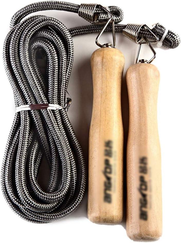 LASTARTS Cuerda de algodón Mango de madera Saltar Deportes para ...