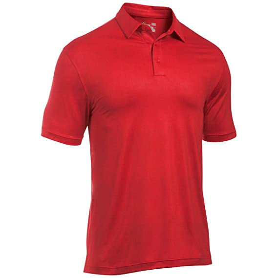c5d1085d33 Under Armour 2017 Mens Crestable Playoff Tweed Polo - Red - L ...