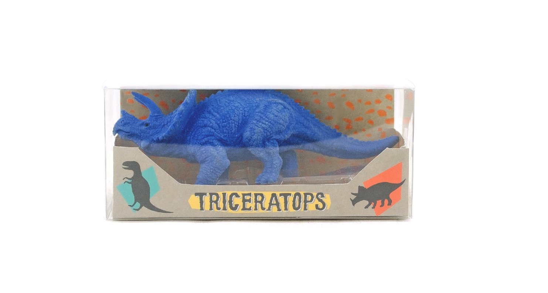 OOLY, Dinosaur Eraser, Triceratops, Set of 1 (112-063)