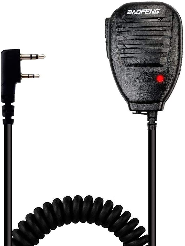Baofeng Handheld Speaker Microphone for FRS 2 Way Radio, Remote Shoulder Mic, Compatible with Long Range Walkie Talkie, Reinforced Cable, Noise Reduction, Spring Clip, Mirkit Edition USA Warranty: GPS & Navigation
