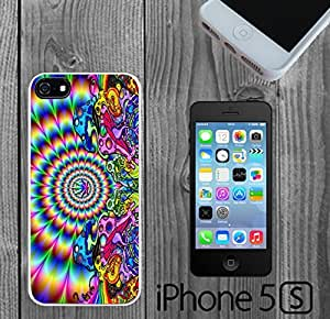 Mushroom Weed Trip Custom made Case/Cover/skin FOR iPhone 5/5s - White - Rubber Case ( Ship From CA)