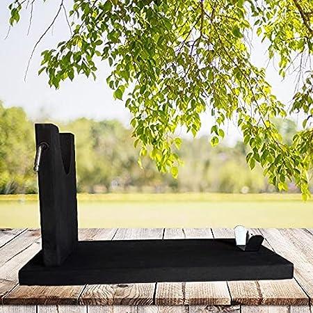Jamonero Tabla + Cuchillo de Corte + Chaira - Economico - Facil Montaje - Color Negro Elegante