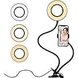 Diyife Selfie Anillo de luz, Anillo de luz LED con Soporte para Teléfono Celular, 360° Rotación, 3 Modos Brillo &10…