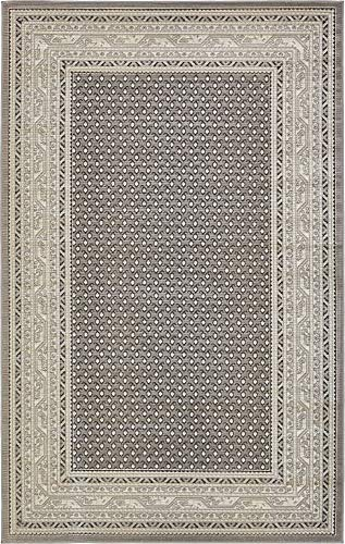 Unique Loom Williamsburg Collection Traditional Border Gray Area Rug (5' 0 x 8' - Low Rectangle Pile Rug