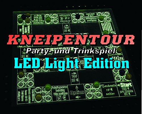 Kneipentour - Das Trink- und Partyspiel LED Light Edition (beleuchtet) 38x38 cm