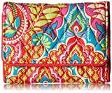 Vera Bradley Women's Petite Trifold Wallet, Paisley in Paradise, One Size