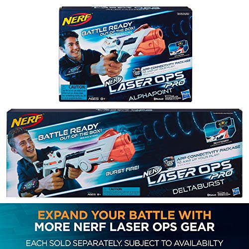61kZQN3 UNL - AlphaPoint Nerf Laser Ops Pro Toy Blasters - Includes 2 Blasters & 2 Armbands - Light & Sound FX - Health & Ammo Indicators - For Kids, Teens & Adults