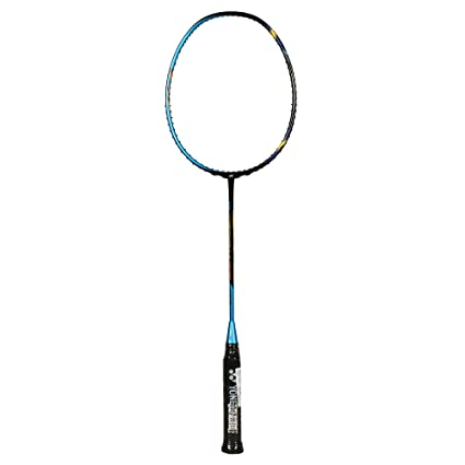Yonex Astrox 77 New Badminton Racquet (Metallic Blue) Strung with BG80,  27lbs (String - Random Color)