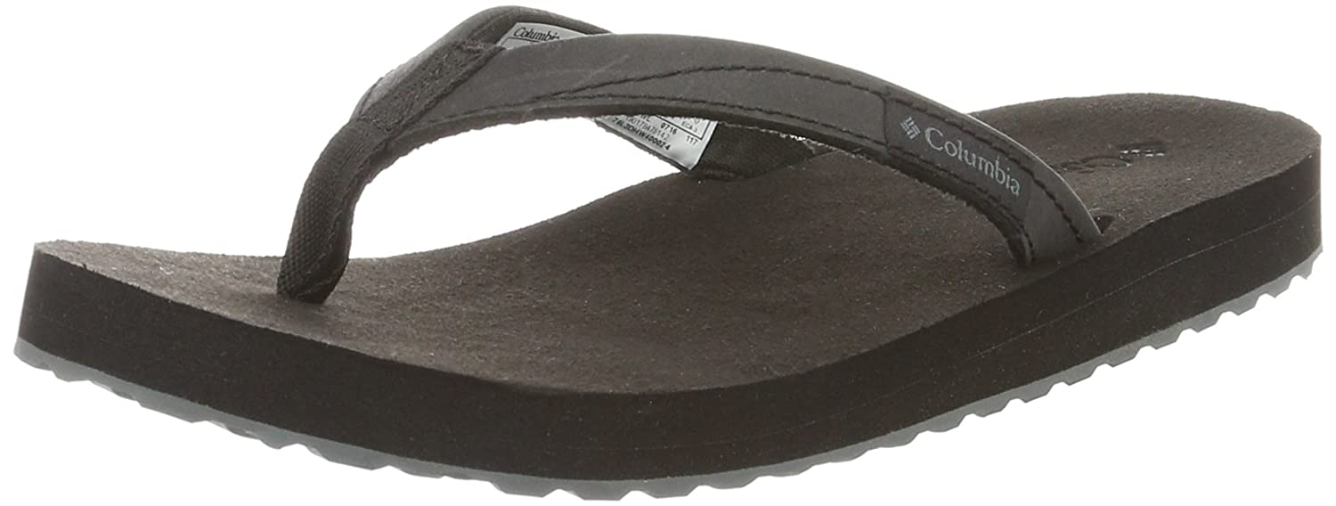 Columbia Damen Sorrento Leather Flip Wmns Sandalen Schwarz/Graphitgrau