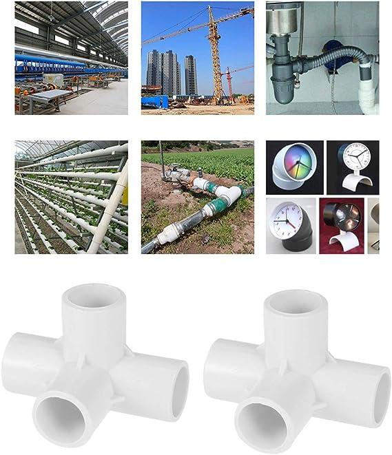bianco Yardwe 10 pezzi Connettore giunto a croce in PVC a 4 vie