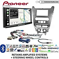 Volunteer Audio Pioneer AVIC-W8400NEX Double Din Radio Install Kit with Navigation, Apple CarPlay and Android Auto Fits 2008-2011 Focus (SWC)