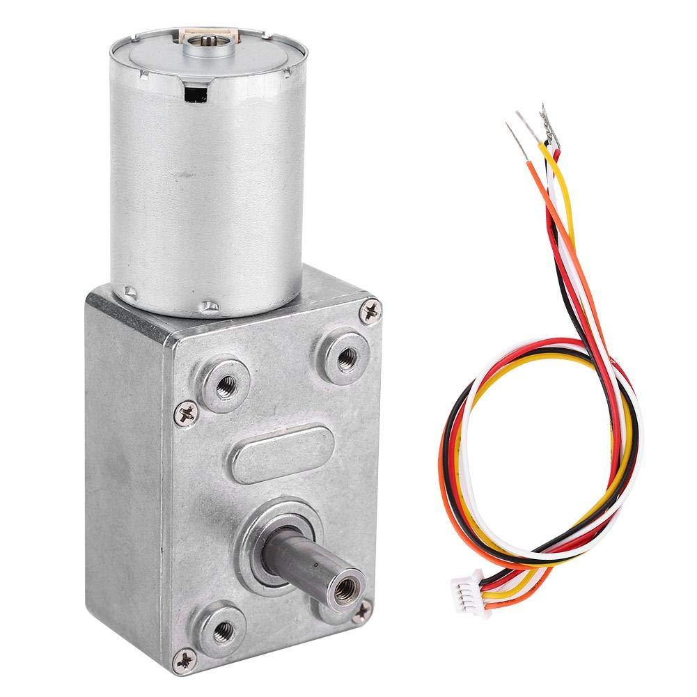 12V-10 Gear Motor DC 12//24V Brushless Worm Motor Speeds Reduction Gear Motor 4~150Rpm for Robots Locks