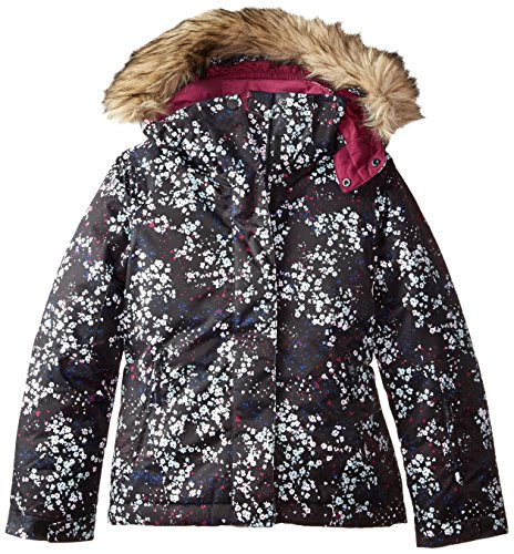 Roxy Big Girls' American Pie Snow Jacket, Ditsy Floral, 8/Small by Roxy