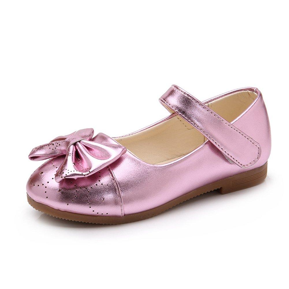 1011a9d443b T-JULY Girls Shimmer Bowknot Dress Ballet Flats Anti-Slip Mary Jane Shoes ( Toddler Little Kid) Pink