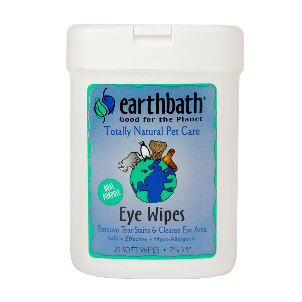 Earthbath All Natural Specialty Eye Wipes (6 Pack), 25 Wipes by Earthbath