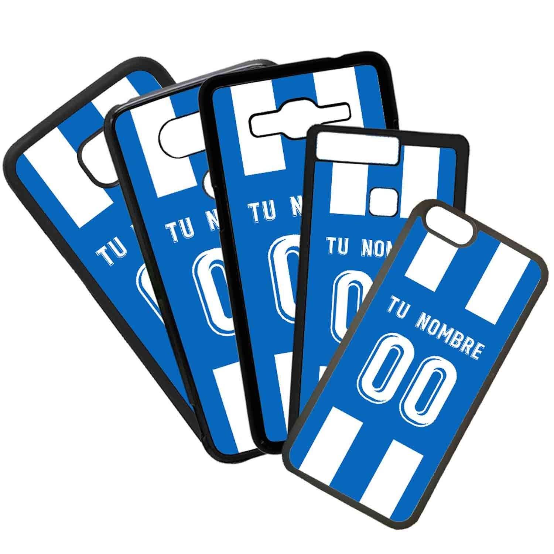 Funda de Movil Carcasa de Moviles Fundas Carcasas de TPU Compatible con el movil iPhone 5 5s Modelo Camiseta de Futbol Deportivo de la Coruña con El Nombre ...