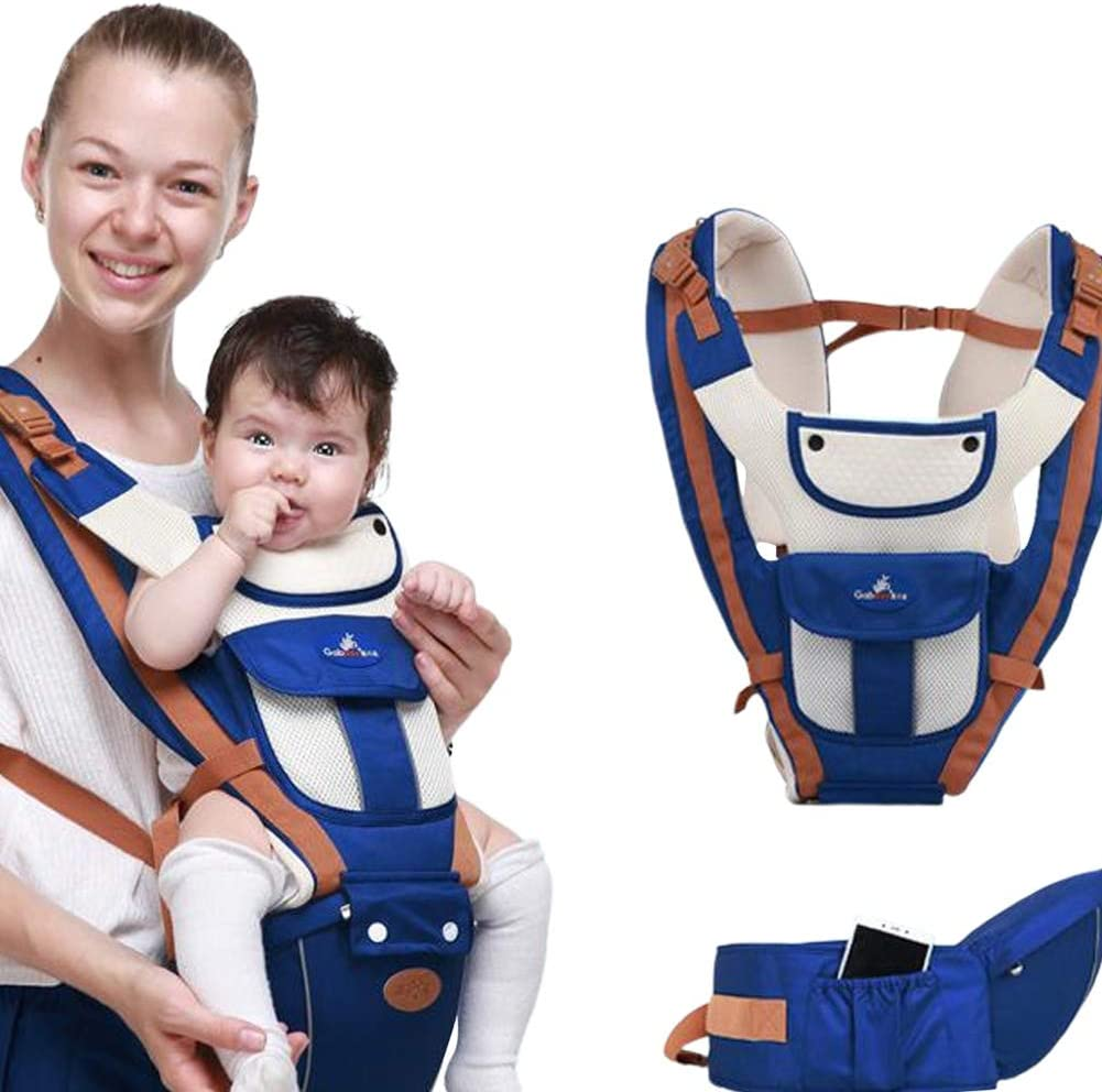 Alician Baby Infant Carrier Hip Seat Carrier Multifunction Front Backpack Breathable Mint Green Household Supplies