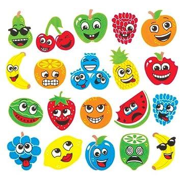 Baker Ross Pegatinas De Espuma Con Caras De Frutas Que Los Ninos - Manualidades-con-frutas-para-nios