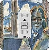 Rikki Knight 3172 Walter Gramatte Art Girl at the Window Design Light Switch Plate