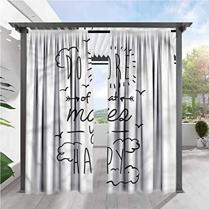 Amazon Com Marilds Quotes Sliding Door Curtain Positive