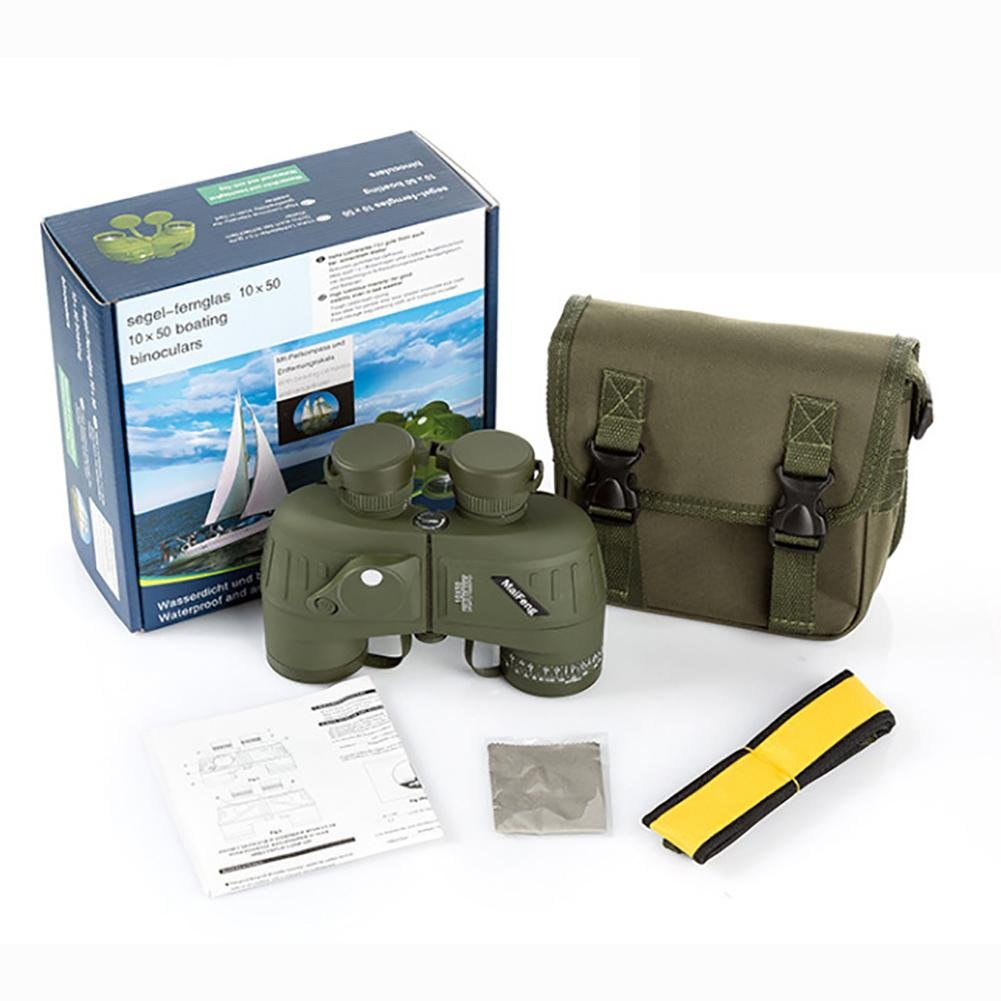 MIAO Outdoor Adult Military Standard High - Definition High Power 10x50 Micro - Light Night Vision Ranging Binoculars with Compass Coordinates by miaomiao (Image #3)