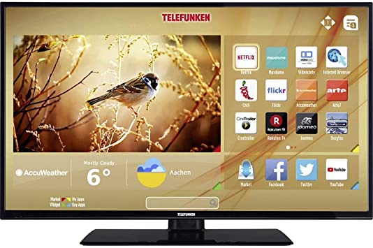 Telefunken c40u446 a televisor LED 102 cm 40 Pulgadas Clase energética A DVB-T2, DVB-C, DVB-S, UHD, Smart TV, WLAN, Ci Negro: Amazon.es: Electrónica