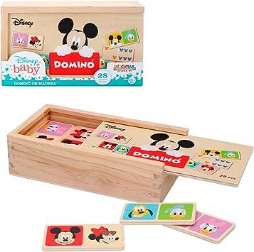 Domino madera infantil Juego de mesa para niños 2 3 4 años - Juegos de memoria Juegos Juguetes educativos Niños 2 años - Juegos estimulación cognitiva Domino Mickey: Amazon.es: Juguetes y juegos