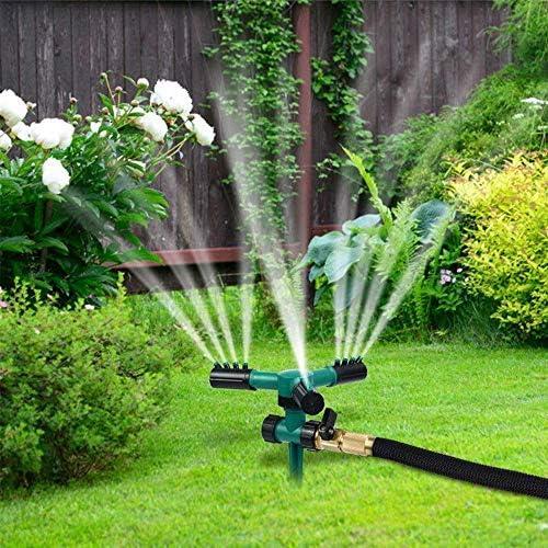 YUEMA Aspersor de césped automático giratorio 360 grados ajustable para riego de césped de jardín (verde): Amazon.es: Jardín
