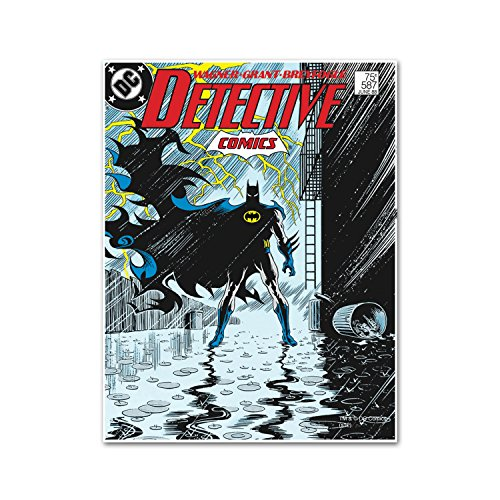 Silver Buffalo BN1536 DC Comics Batman Standing in Alley Wood Wall Art, 13 by 19 inches