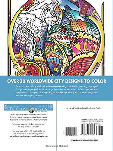 Creative Haven Circular Cities Coloring Book Adult David Bodo 0800759809028 Amazon Books
