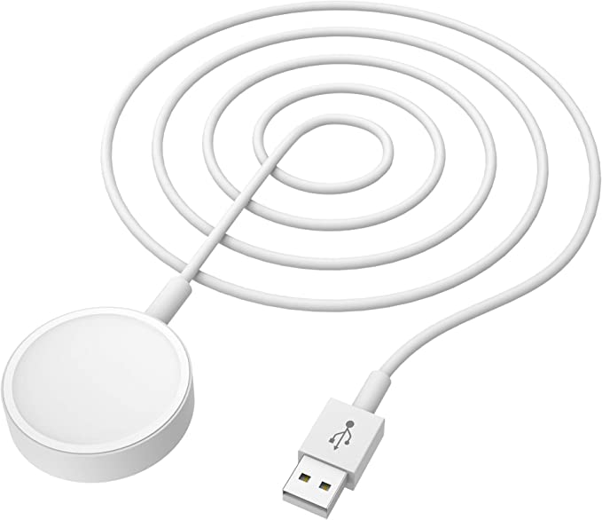 Mixspace Wireless Charge Cable for Apple Watch Magnetic Charging Cable 3.3ft(1M) Portable Smart Watch Charger USB Cable Compatible with iWatch Series 4 3 2 1, 38mm 40mm 42mm 44mm (White)