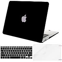 Mosiso Funda Dura Compatible MacBook Air 13 Pulgadas (A1369 / A1466, Versión 2010-2017), Carcasa Rígida de Plástico & Cubierta de Teclado (USA Versión) & Protector de Pantalla, Negro