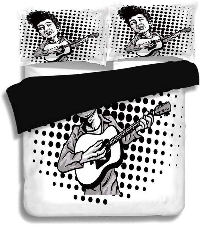 Juego de funda nórdica negra, decoración de Bob Dylan, estilo de ...