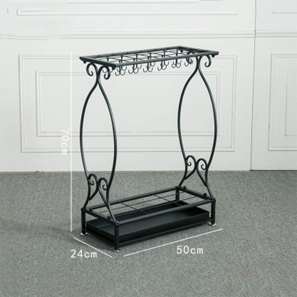 C Umbrella Stand Home Hotel Supermarket Restaurant Wrought Iron Large Capacity Storage Rack (color   A)