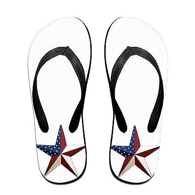 3eedae141813 American Flag Art Pentagram ZUniverse Unisex Light Weight Flip Flops Sandal