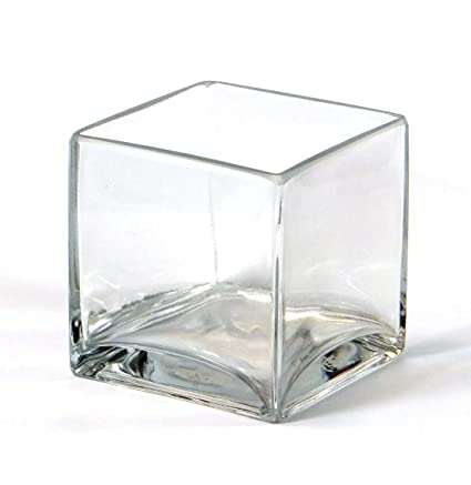 Amazon Vasefill 6 Pack Clear Square Glass Vase Cube 4 Inch 4