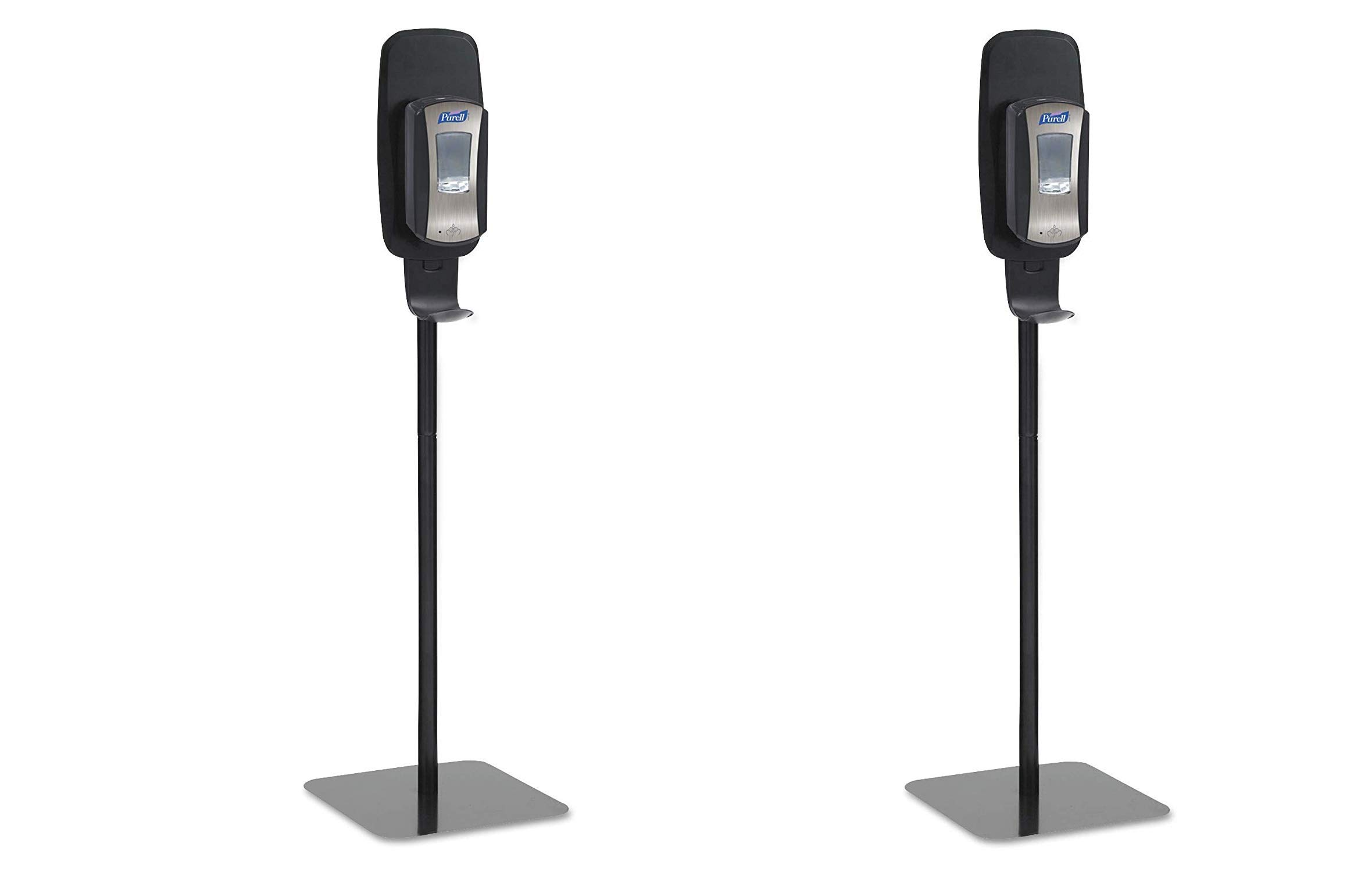 PURELL 2425DS LTX or TFX Touch-Free Dispenser Floor Stand, Black, 23 3/4 x 16 3/5 x 5 29/100 (Pack of 2)