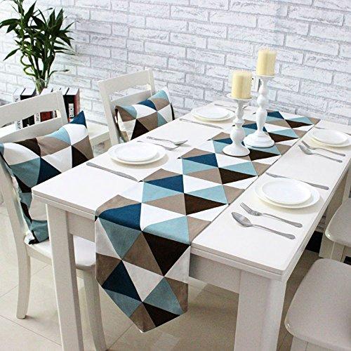 Uphome Modern Geometric Triangle Pattern Table Runner - Cott