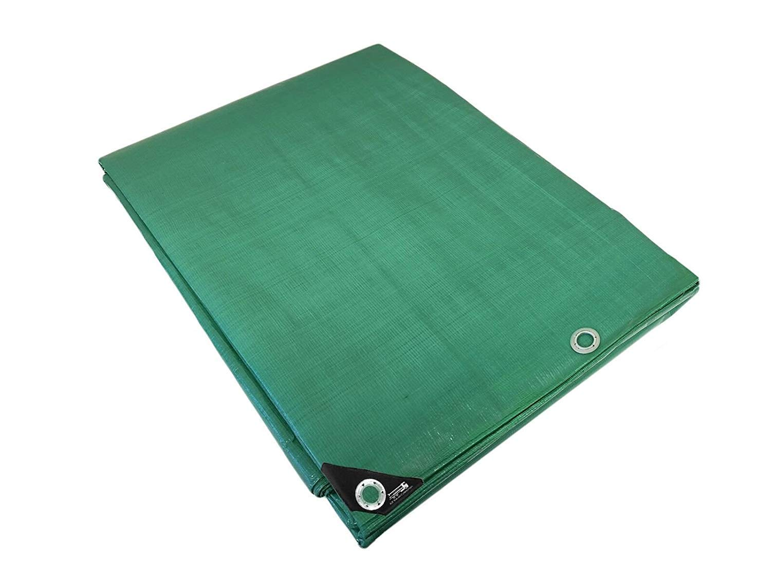 Heavy Duty Waterproof Green Tarp with Reinforced Corners Bundled with Carabiner Flashlight 8X10 EZ Travel Distribution