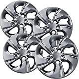 15 inch Hubcaps Best for 2013-2015 Honda Civic - (Set of 4) Wheel Covers 15in Hub Caps Chrome Rim Cover - Car Accessories for 15 inch Wheels - Snap On Hubcap, Auto Tire Replacement Exterior Cap