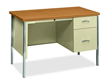HON 34000 Series Small Office Desk   Right Pedestal Desk With File Drawer,  45