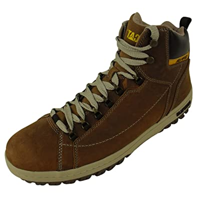 9f1a39fbd673 Mens Caterpillar CAT APA Hi Walking Ankle Boots Leather Hiking Trainers UK  12