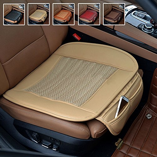 Human Body Explorer - Suninbox Car Seat Cushion, Car Seat Covers[Bamboo Charcoal] Breathable Comfortable Car Cushion,Anti-Skid Leather Four Seasons General car seat Protector [Beige]