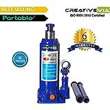 CreativeVia 5 Ton Hydraulic Bottle Universal Car Jack- 6 Months Replacement Warranty