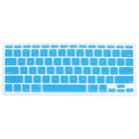 TOOGOO(R) Celeste Guardia protector cubierta piel Pelicula de teclado del ordenador portatil para