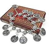 Women Silver Coins Tassel Anklets Gypsy Festival Turkish Tribal Ethnic Bracelet ERAWAN