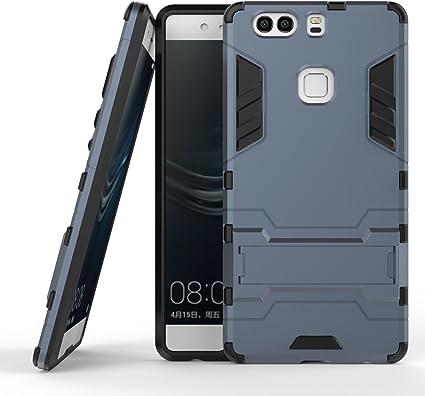 Funda Huawei P9 Plus, MHHQ 2in1 Armadura Combinación A Prueba de Choques Heavy Duty Escudo Cáscara