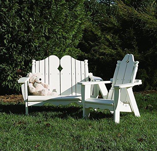 Uwharrie Chair Co N161-41-Rustic Red-Dist-Pine Kid's Chair, Rustic Red-Distressed (Outdoor Kids Red Rustic Chair)