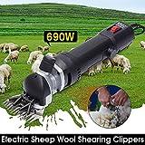 690 W Professional Electric Sheep Shears Shearing Clipper Goats Shears fo Farm Livestock Hair Fur Grooming, 6 Speed 13 Straight Teeth Blade